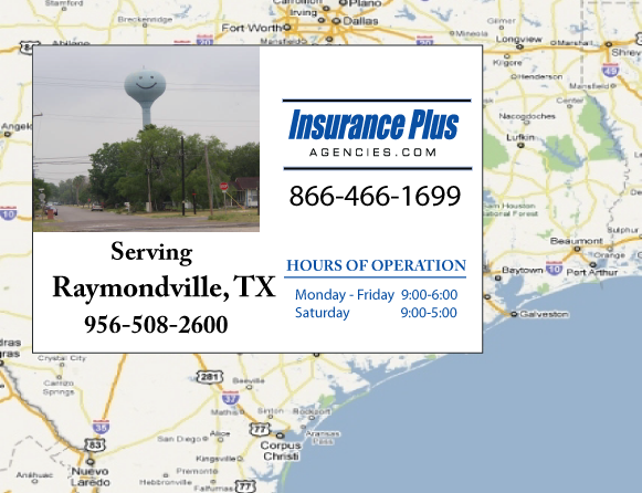 Insurance Plus Agencies of Texas (956)508-2600 is your Event Liability Insurance Agent in Raymondville, Texas.