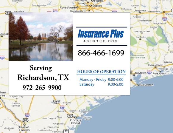 Insurance Plus Agencies of Texas (972)265-9900 is your Commercial Liability Insurance Agency serving Richardson, Texas.