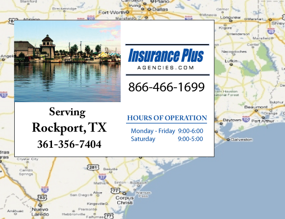 Insurance Plus Agencies of Texas (361)356-7404 is your Commercial Liability Insurance Agency serving Rockport, Texas.