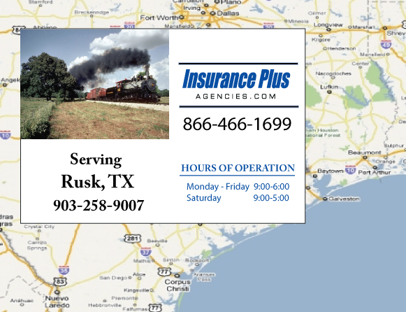 Insurance Plus Agencies of Texas (903)258-9007 is your Commercial Liability Insurance Agency serving Rusk, Texas.