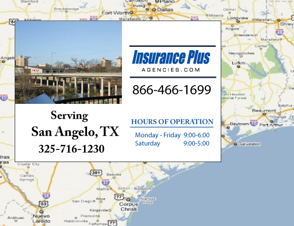 Insurance Plus Agencies of Texas (325)716-1230 is your Commercial Liability Insurance Agency serving San Angelo, Texas.