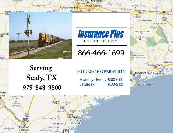 Insurance Plus Agencies of Texas (979)848-9800 is your Commercial Liability Insurance Agency serving Sealy, Texas.