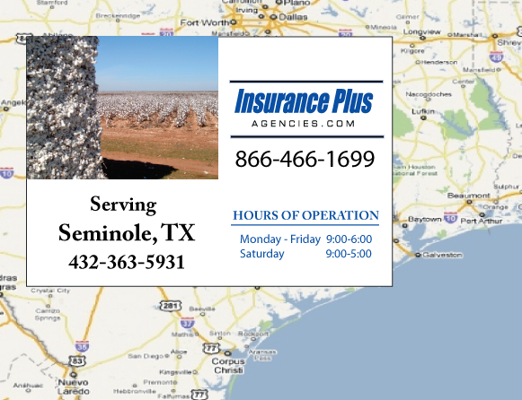 Insurance Plus Agencies of Texas (432)363-5931 is your Event Liability Insurance Agent in Seminole, Texas.