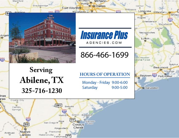 Insurance Plus Agencies of Texas (325)716-1230 is your Commercial Liability Insurance Agency serving Abilene, Texas.