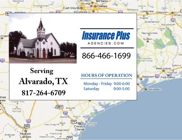 Insurance Plus Agencies of Texas (817)264-6709 is your Event Liability Insurance Agent in Alvarado, Texas.
