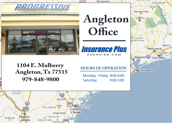 Insurance Plus Agencies of Texas (979)848-9800 is your Commercial Liability Insurance Agency serving Angleton, Texas. Call our dedicated agents anytime for a Quote. We are here for you 24/7 to find the Texas Insurance that's right for you.