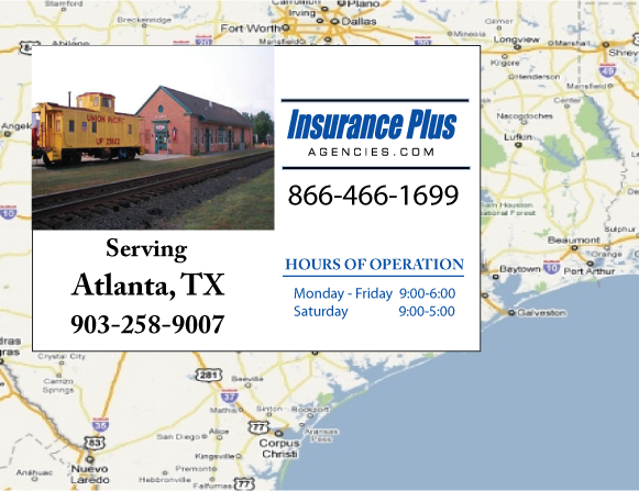 Insurance Plus Agencies of Texas (903)258-9007 is your Event Liability Insurance Agent in Atlanta, Texas.