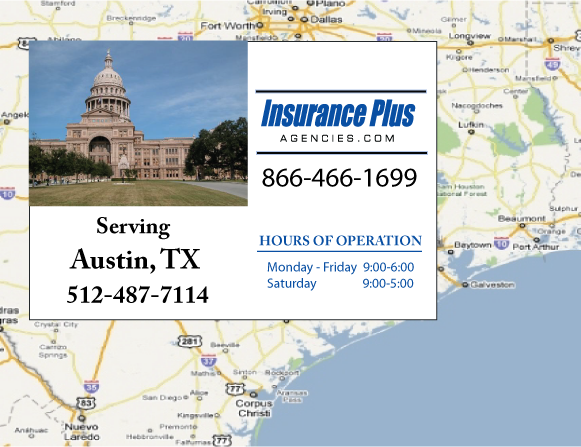 Insurance Plus Agencies of Texas (512)487-7114 is your Commercial Liability Insurance Agency serving Austin, Texas.