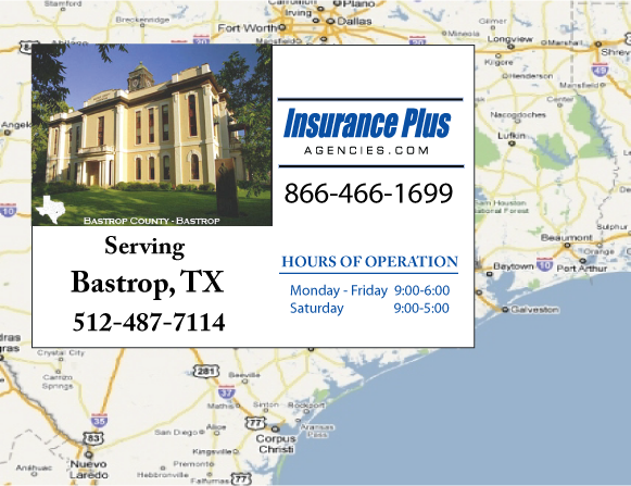 Insurance Plus Agencies (512) 487-7114 is your local Progressive office in Bastrop, TX.