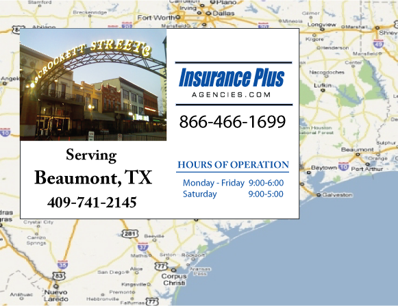 Insurance Plus Agencies of Texas (409)741-2145 is your Commercial Liability Insurance Agency serving Beaumont, Texas.