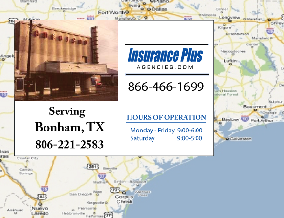 Insurance Plus Agencies of Texas (806)221-2583 is your Event Liability Insurance Agent in Bonham, Texas.