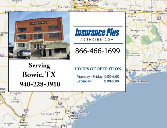 Insurance Plus Agencies of Texas (940)228-3910 is your Commercial Liability Insurance Agency serving Bowie, Texas.