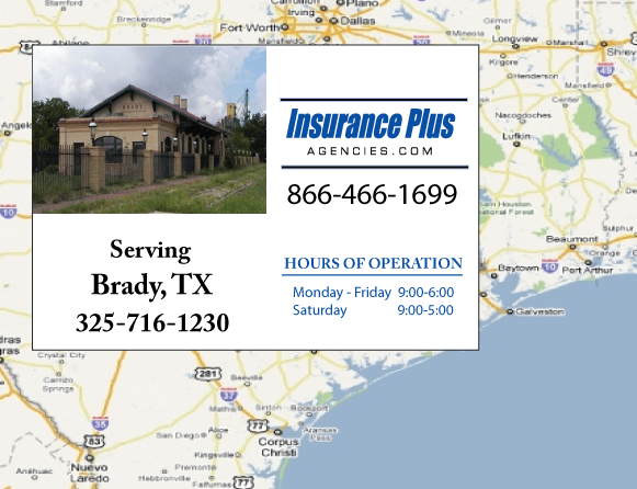 Insurance Plus Agencies of Texas (325)716-1230 is your Event Liability Insurance Agent in Brady, Texas.