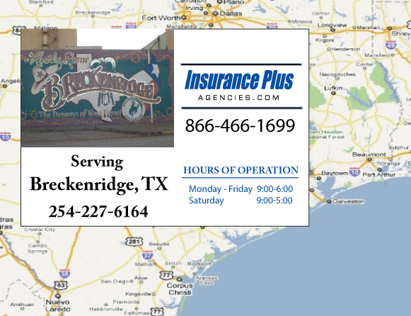Insurance Plus Agencies of Texas (254)227-6164 is your Commercial Liability Insurance Agency serving Breckenridge, Texas.