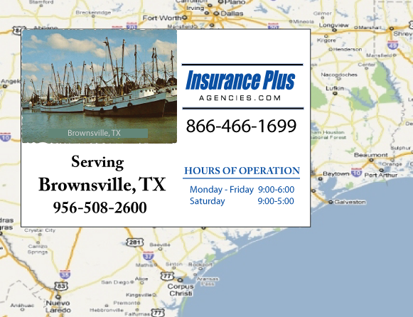 Insurance Plus Agencies of Texas (956)508-2600 is your Commercial Liability Insurance Agency serving Brownsville, Texas.