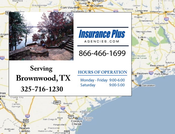 Insurance Plus Agencies of Texas (325)716-1230 is your Commercial Liability Insurance Agency serving Brownwood, Texas. Call our dedicated agents anytime for a Quote. We are here for you 24/7 to find the Texas Insurance that's right for you.