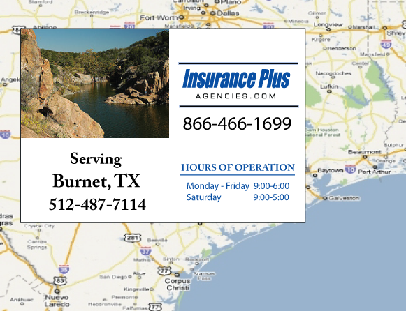 Insurance Plus Agencies of Texas (512)487-7114 is your Event Liability Insurance Agent in Burnet, Texas.