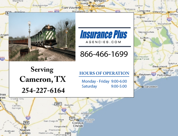 Insurance Plus Agencies of Texas (254)227-6164 is your Commercial Liability Insurance Agency serving Cameron, Texas.