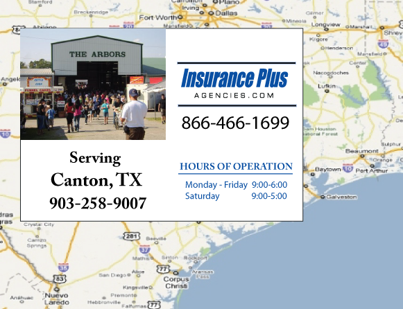 Insurance Plus Agencies of Texas (903)258-9007 is your Event Liability Insurance Agent in Canton, Texas.