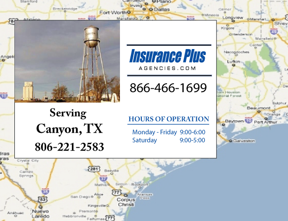 Insurance Plus Agencies of Texas (806)221-2583 is your Event Liability Insurance Agent in Canyon, Texas.
