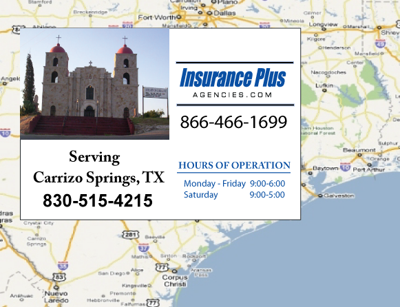 Insurance Plus Agencies of Texas (830)515-4215 is your Commercial Liability Insurance Agency serving Carrizo Springs, Texas.