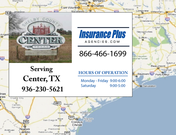 Insurance Plus Agencies of Texas (936)230-5621 is your Commercial Liability Insurance Agency serving Center, Texas.
