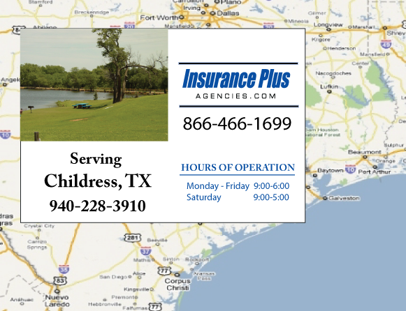Insurance Plus Agencies of Texas (940)228-3910 is your Commercial Liability Insurance Agency serving Childress, Texas.