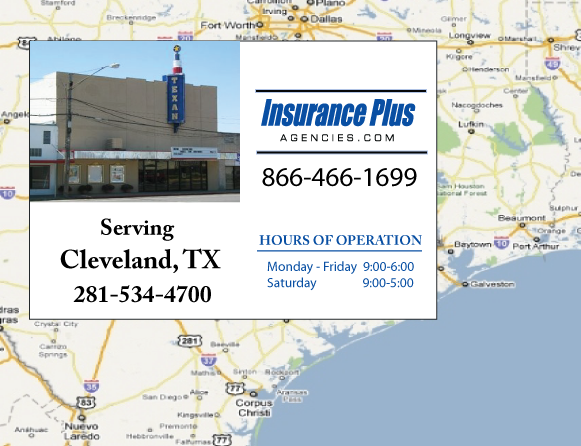 Insurance Plus Agencies of Texas (281)534-4700 is your Commercial Liability Insurance Agency serving Cleveland, Texas.