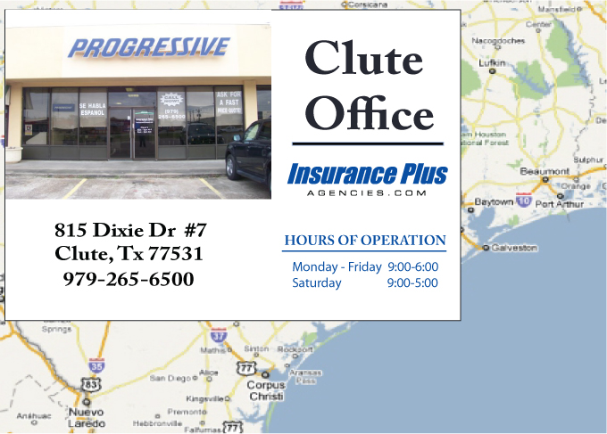 Insurance Plus Agencies of Texas (979)265-6500 is your Commercial Liability Insurance Agency serving Clute, Texas. Call our dedicated agents anytime for a Quote. We are here for you 24/7 to find the Texas Insurance that's right for you.