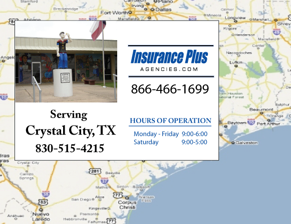 Insurance Plus Agencies of Texas (830)515-4215 is your Salvage or Rebuilt Title Insurance Agent in Crystal City, Texas.