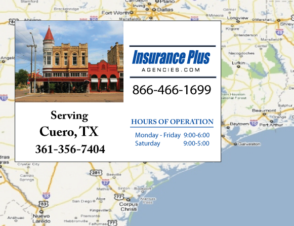 Insurance Plus Agencies of Texas (361)356-7404 is your Commercial Liability Insurance Agency serving Cuero, Texas.