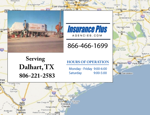 Insurance Plus Agencies of Texas (806)221-2583 is your Event Liability Insurance Agent in Dalhart, Texas.