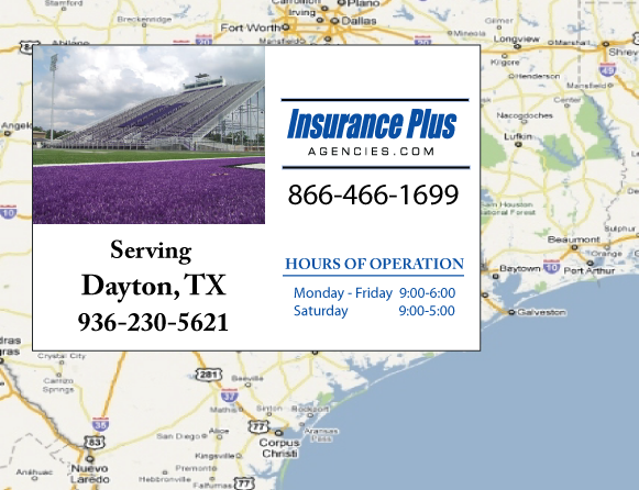 Insurance Plus Agencies of Texas (936)230-5621 is your Commercial Liability Insurance Agency serving Dayton, Texas.