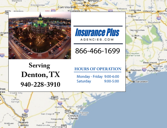 Insurance Plus Agencies of Texas (940)228-3910 is your Commercial Liability Insurance Agency serving Denton, Texas.