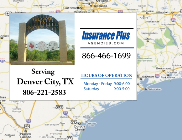 Insurance Plus Agencies of Texas (806)221-2583 is your Event Liability Insurance Agent in Denver City, Texas.