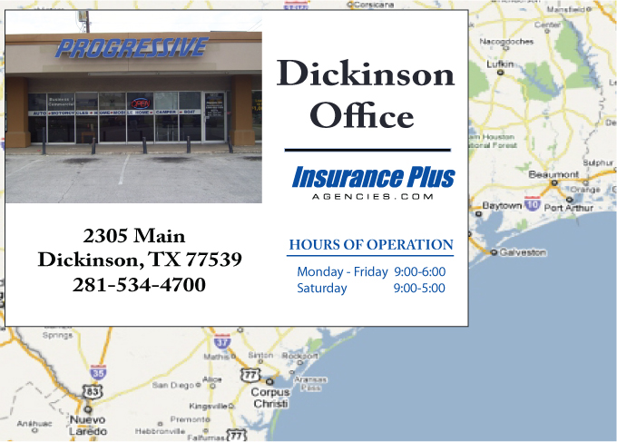 Insurance Plus Agencies (281) 534-4700 is your local Commercial Insurance Agent in Dickinson, Texas.