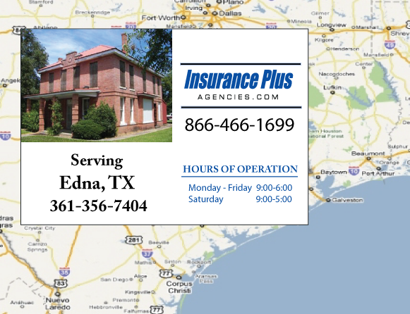 Insurance Plus Agencies of Texas (361)356-7404 is your Commercial Liability Insurance Agency serving Edna, Texas.