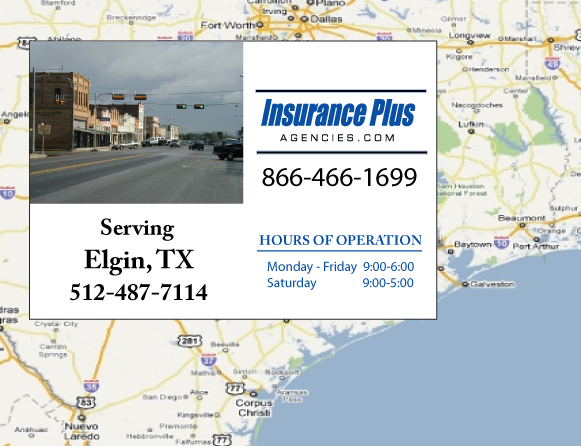 Insurance Plus Agencies of Texas (512)487-7114 is your Commercial Liability Insurance Agency serving Elgin, Texas.