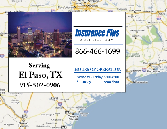 Insurance Plus Agencies of Texas (915)502-0906 is your Commercial Liability Insurance Agency serving El Paso, Texas.