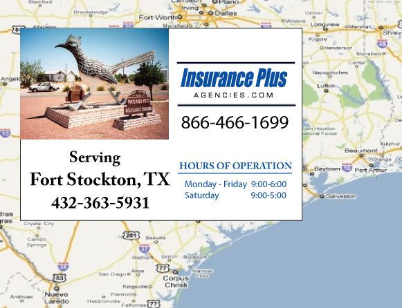 Insurance Plus Agencies of Texas (432)363-5931 is your Commercial Liability Insurance Agency serving Fort Stockton, Texas.