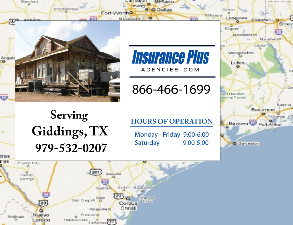 Insurance Plus Agencies of Texas (979)532-0207 is your Event Liability Insurance Agent in Giddings, Texas.