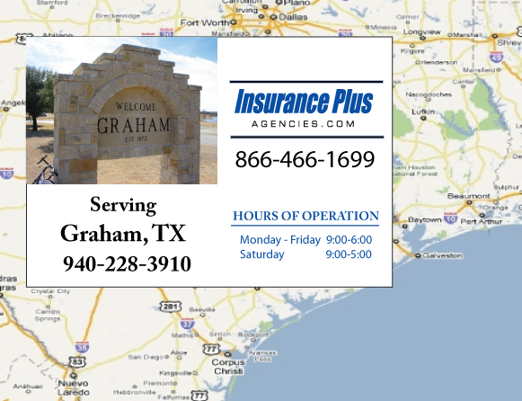 Insurance Plus Agencies of Texas (940)228-3910 is your Commercial Liability Insurance Agency serving Graham, Texas.