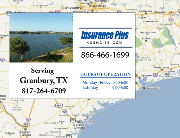 Insurance Plus Agencies of Texas (817)264-6709 is your Event Liability Insurance Agent in Granbury, Texas.