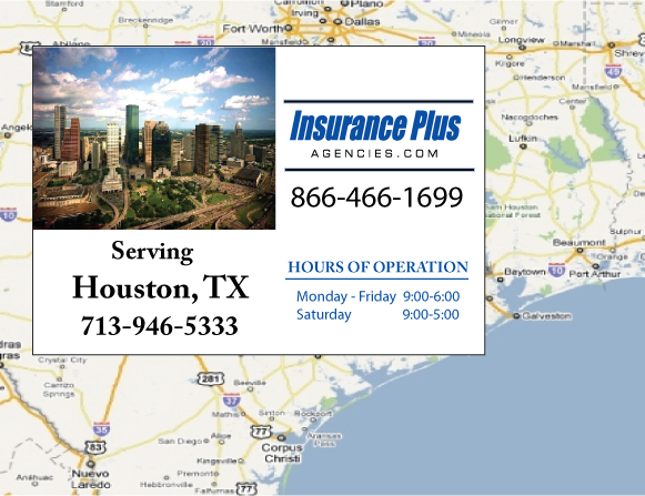 Insurance Plus Agencies of Texas (713)946-5333 is your Commercial Liability Insurance Agency serving Houston, Texas. Call our dedicated agents anytime for a Quote. We are here for you 24/7 to find the Insurance that's right for you.