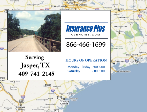Insurance Plus Agencies of Texas (409)741-2145 is your Commercial Liability Insurance Agency serving Jasper, Texas.