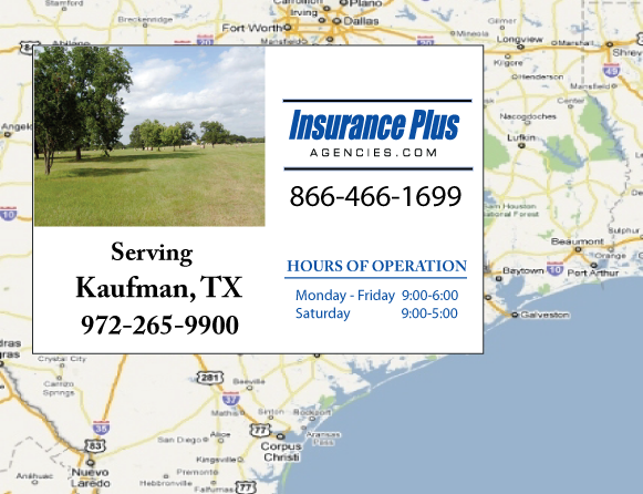Insurance Plus Agencies of Texas (972)265-9900 is your Event Liability Insurance Agent in Kaufman, Texas.