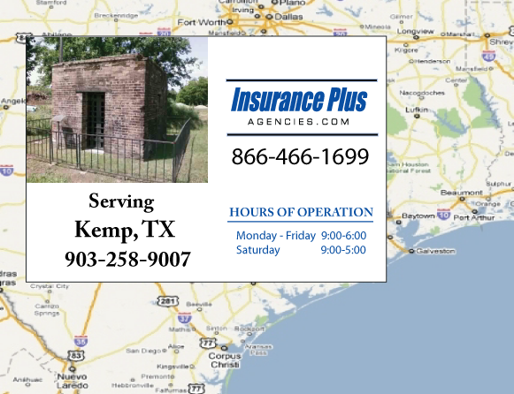 Insurance Plus Agencies of Texas (903)258-9007 is your Mexico Auto Insurance Agent in Kemp, Texas.
