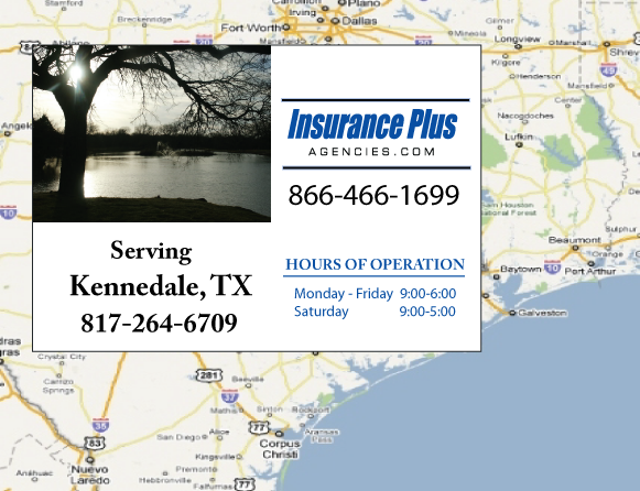 Insurance Plus Agencies of Texas (817)264-6709 is your Commercial Liability Insurance Agency serving Kennedale, Texas.
