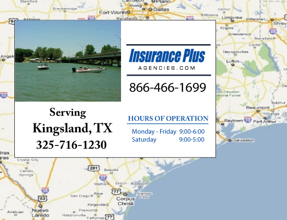 Insurance Plus Agencies of Texas (325)716-1230 is your Event Liability Insurance Agent in Kingsland, Texas.