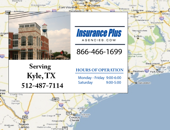 Insurance Plus Agencies of Texas (512)487-7114 is your Commercial Liability Insurance Agency serving Kyle, Texas.